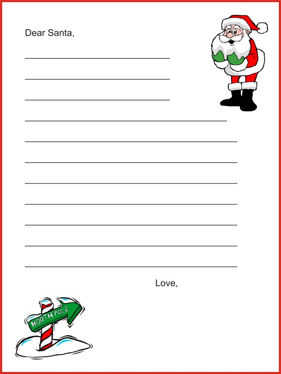 christmas letter tips - dear santa