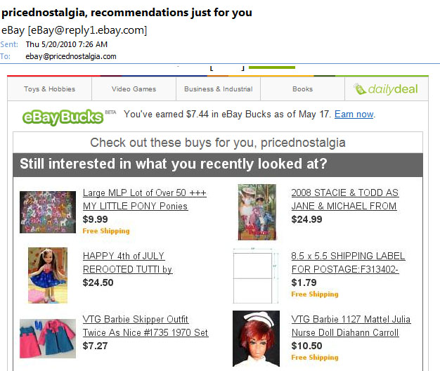 eBay, I'm never going to buy my own items. Even if you pretend they have free shipping when they don't.