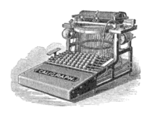 English: The Caligraph, a typewriter produced ...