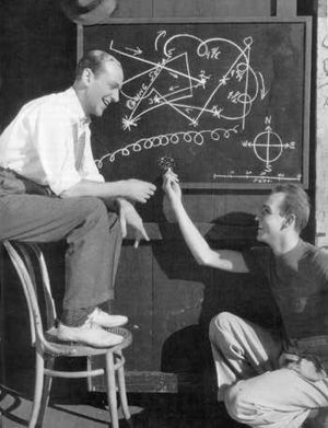 Fred Astaire and Hermes Pan working out a danc...