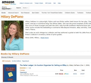 amazon author page screenshot