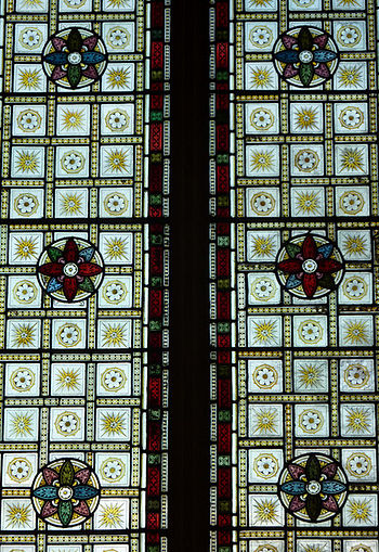 English: Detail of the east window, Holbrook C...