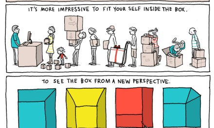 Thinking outside of, fitting into and learning to embrace the box
