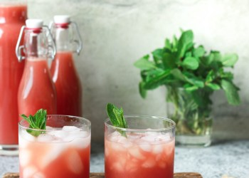 Watermelon and Strawberry Juice