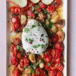 Tomato Garlic Confit with Burrata