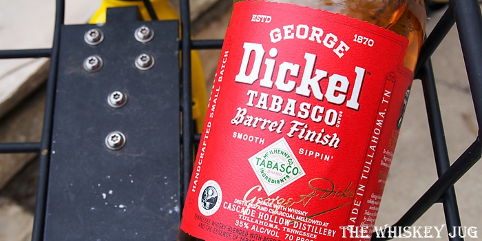 George Dickel Tabasco Barrel Finish Label
