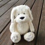 """Toby"" Soft Toy Dog White"