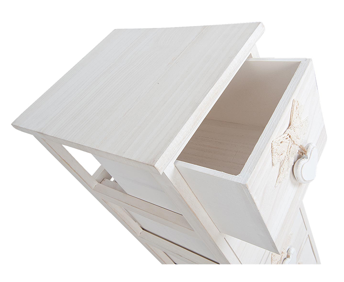 Dorset Narrow 25cm White Tall Bedside Table Cabinet. The