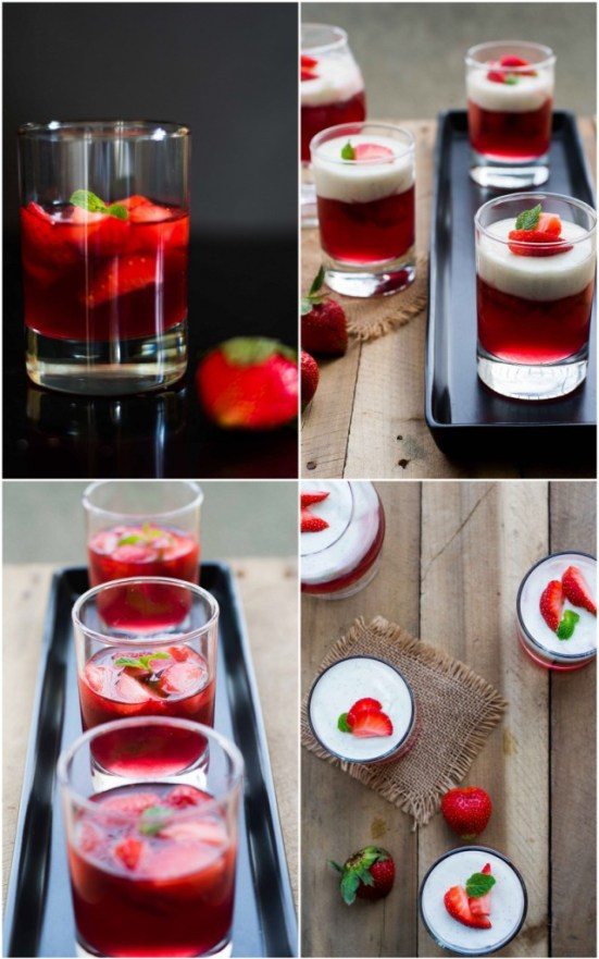 Strawberry Jelly With Vanilla Bean Panna Cotta 4