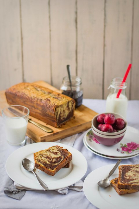 Banana Marbled Loaf Cake 5