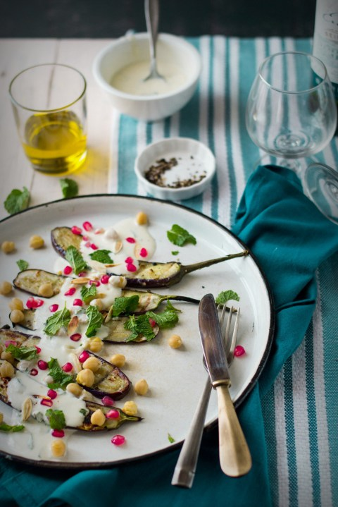 Grilled Eggplant Salad With Yogurt Dressing 1