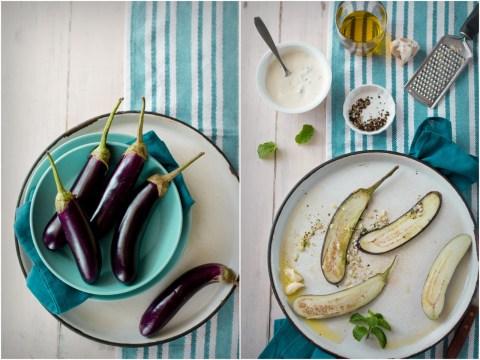 Grilled Eggplant Salad With Yogurt Dressing 2