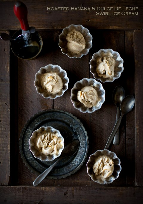 Roasted Banana & Dulce De Leche Swirl Ice Cream