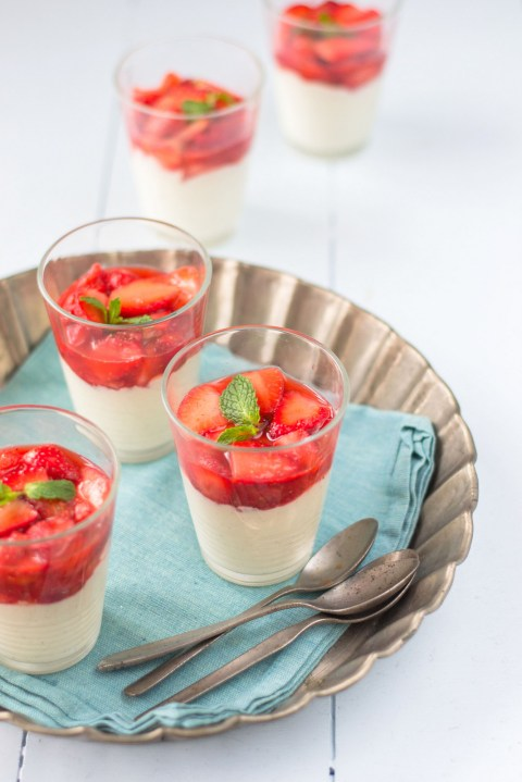 White Chocolate Mousse With Macerated Strawberries