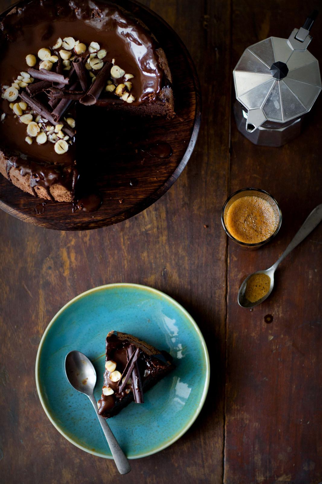 Hazelnut chocolate cake gluten free