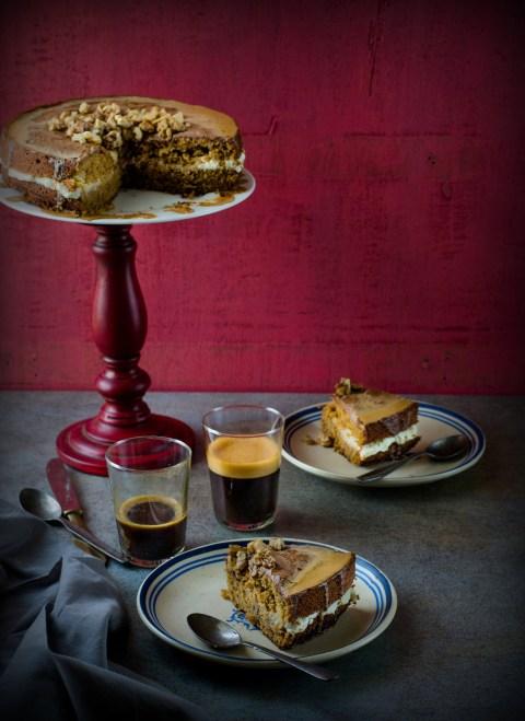 Espresso Walnut Cake