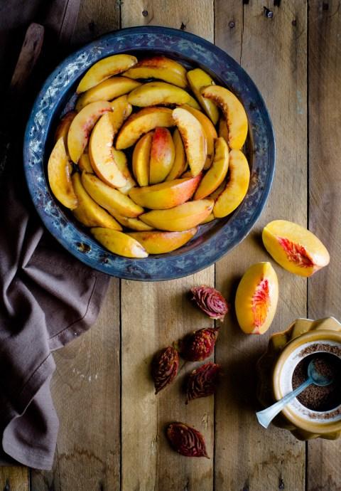 Gluten Free Peach Crumble
