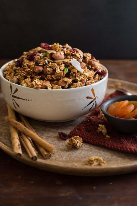 pumpkin maple nut granola