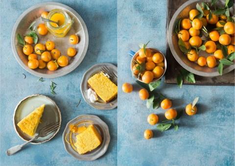 whole orange and semolina cake with rosemary syrup