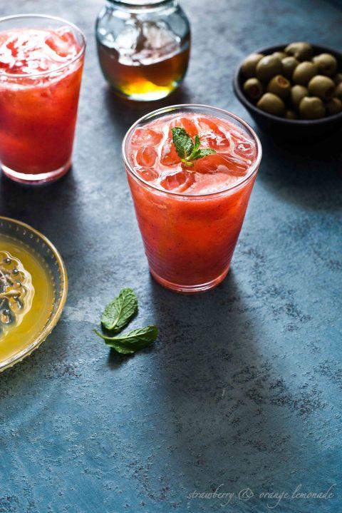 strawberry & orange lemonade