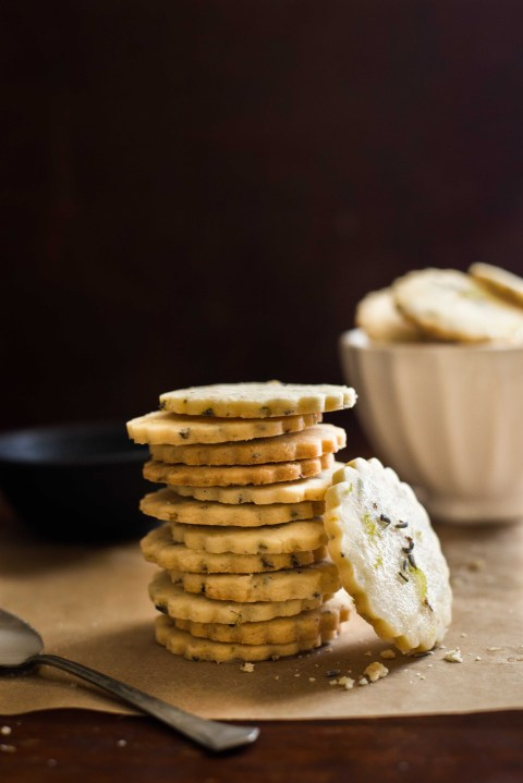 lavender lemon shortbread cookies