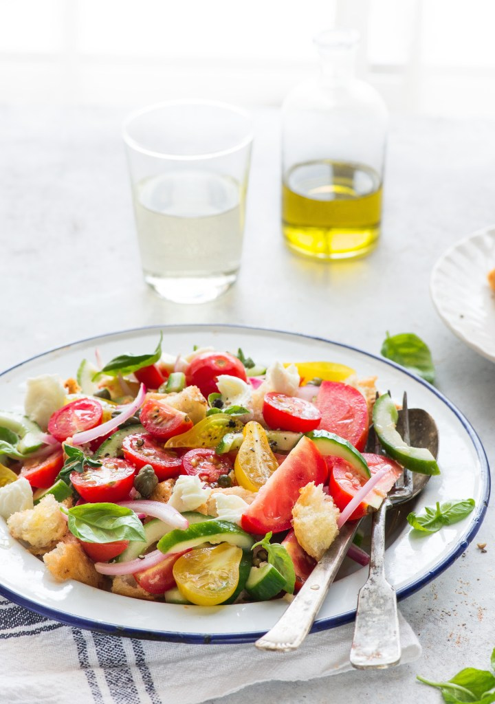 panzanella salad rustic