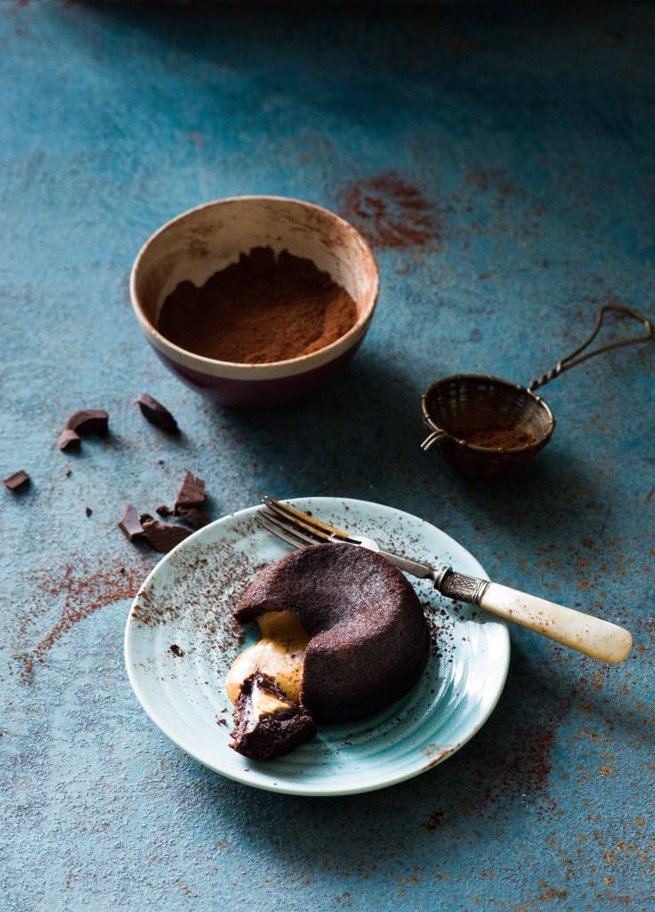 Espresso Peanut Butter Choco Lava Cakes