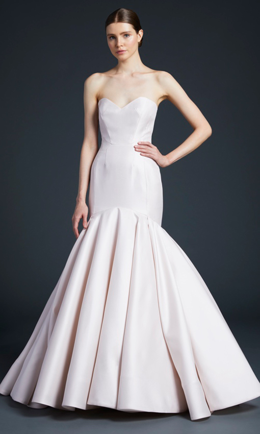 anne barge strapless mermaid gown
