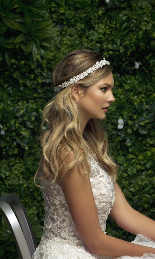 headband silver by Blossom Veils