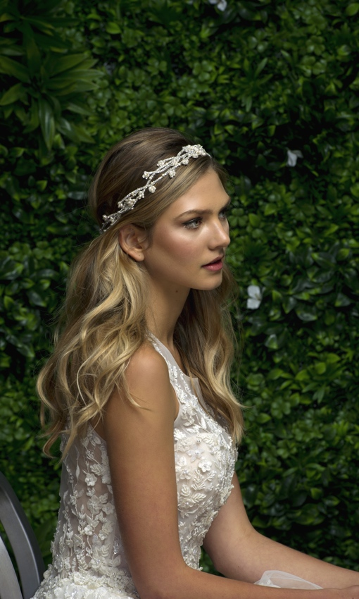 Wider silver headband by Blossom Veils and Accessories