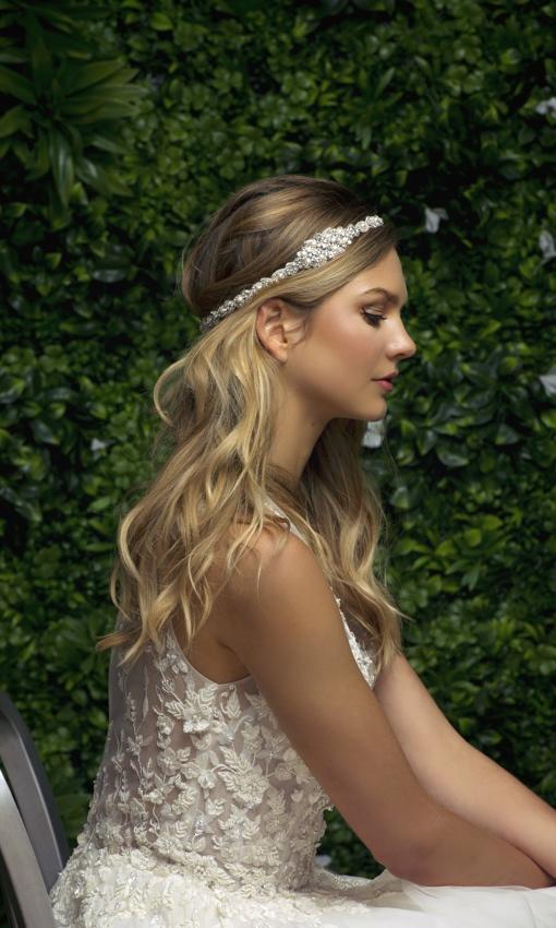 Blossom Veils headband sliver sparkle