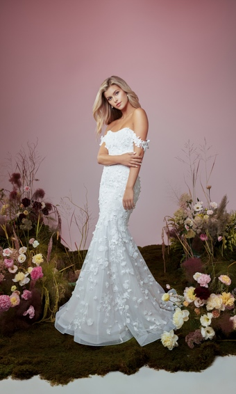 anne barge blue willow floral wedding gown