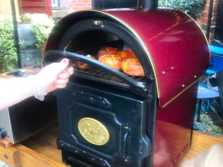 Close up of the White Swan Hotel potato oven
