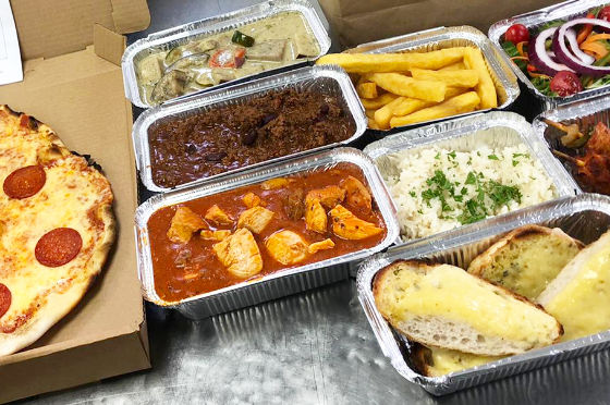 Takeaway food at the White Swan Hotel in Henley in Arden