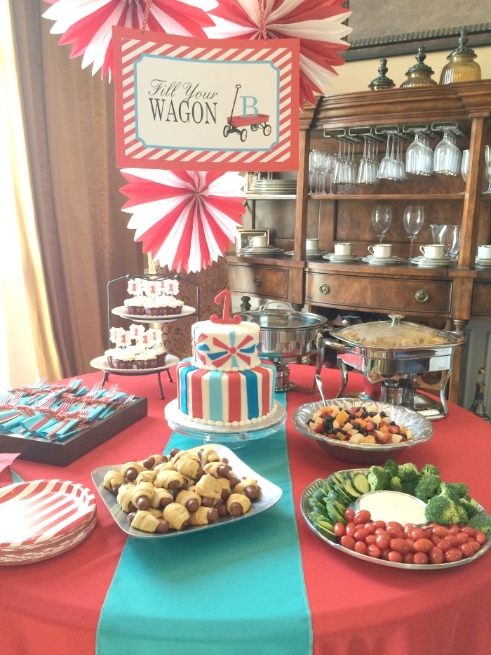 little red wagon 1st birthday party food the whole cook