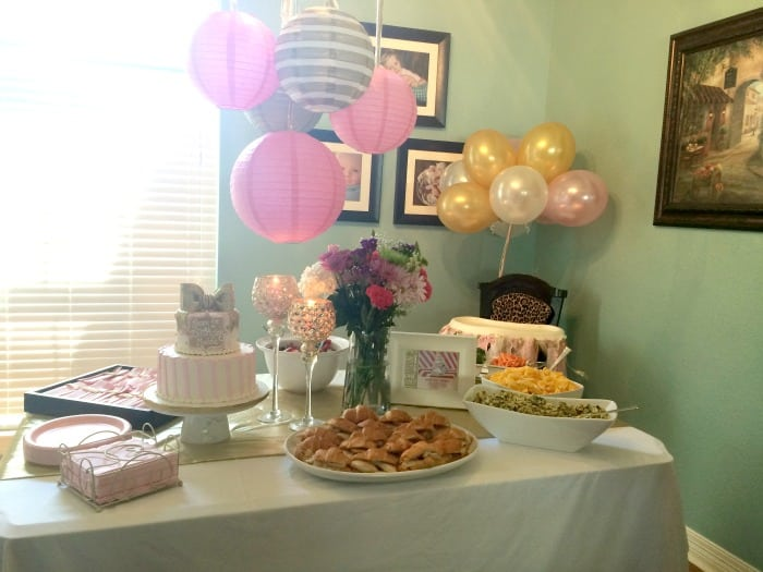 pink gold 1st birthday party food display the whole cook