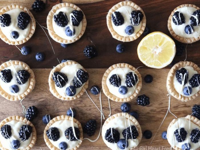 Lemon Cream Tarts with Berries by Girl Heart Food