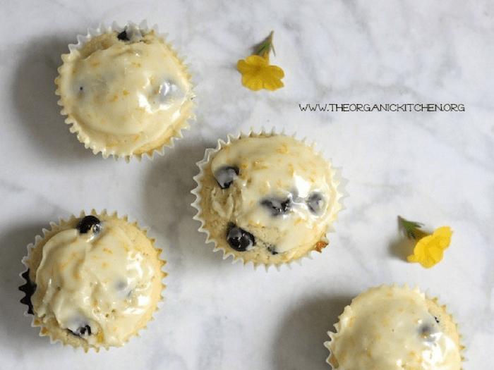 Orange Blueberry Buttermilk Cupcakes by The Organic Kitchen