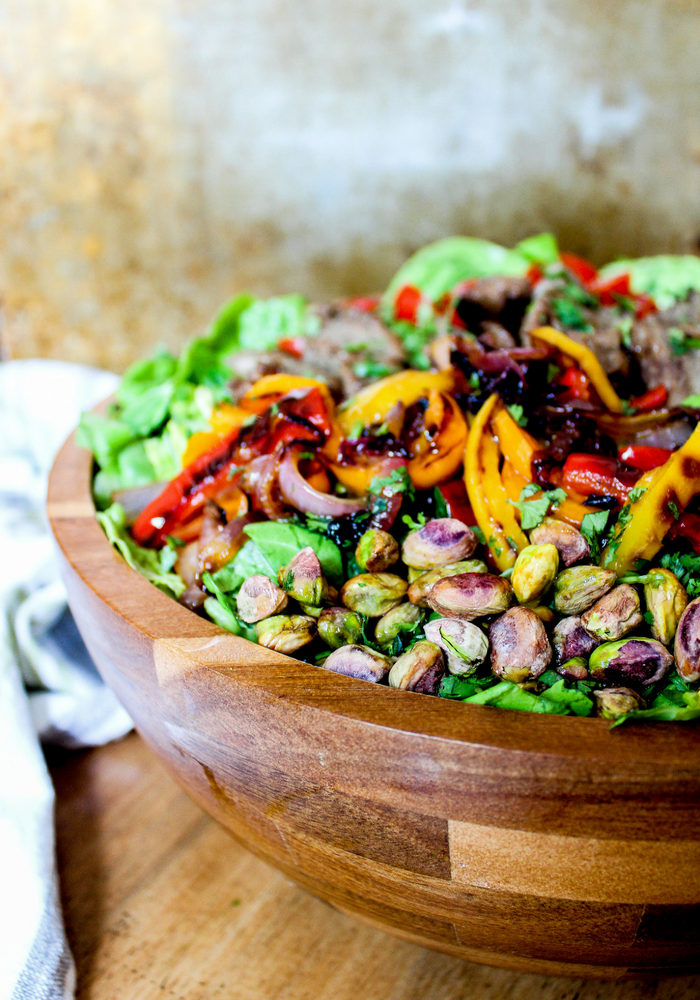 Southwestern Steak Salad with Lime Vinaigrette vertical by The Whole Cook