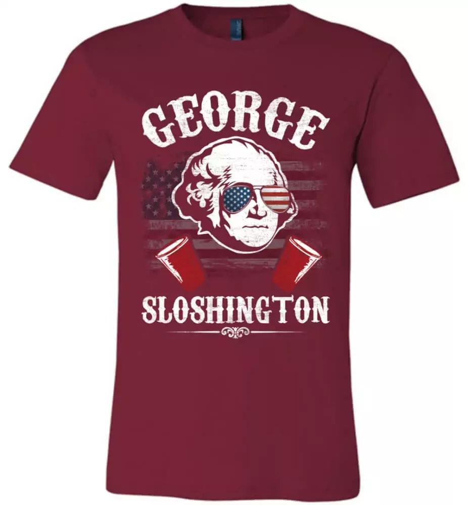 f0f4ddab George Sloshington 4th Of July Canvas Unisex T-Shirt - The Wholesale ...