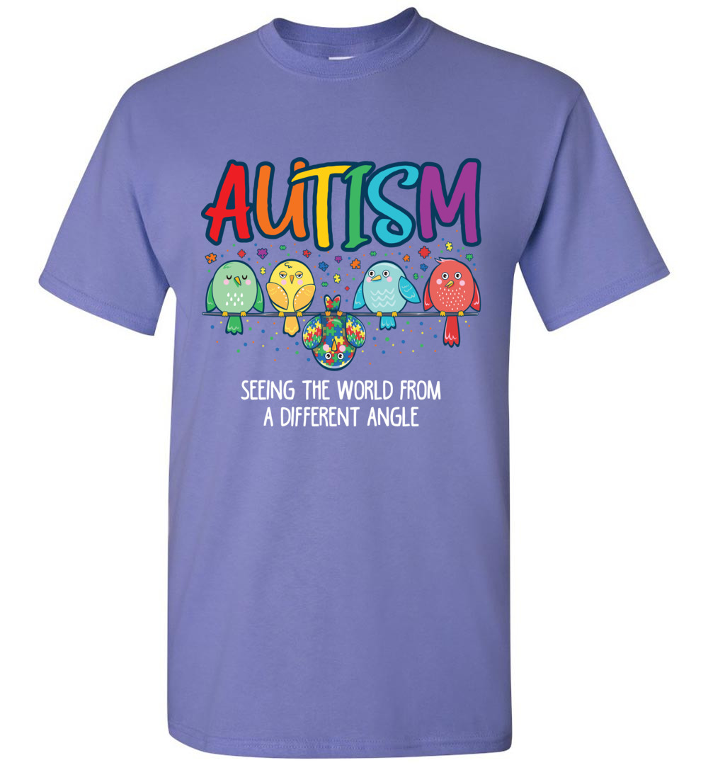 e54667b5c Seeing The World From Different Angle Autism Awareness T-Shirt - The ...