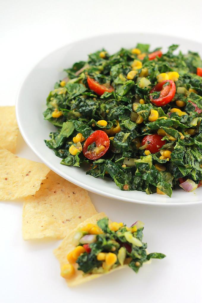 Kale Corn Relish Salad