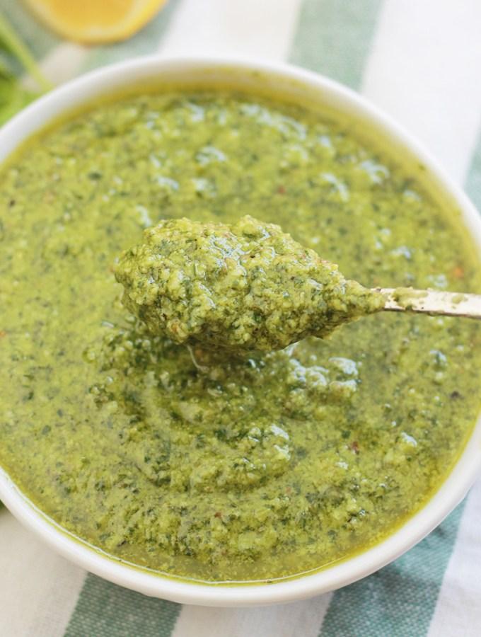 Bowl of Vegan Pesto