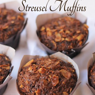 Chocolate Coconut Streusel Muffins
