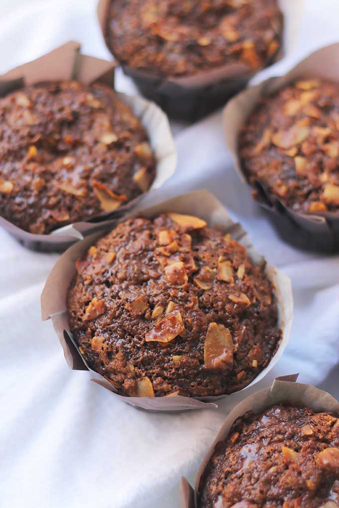 If you're a Chocolate Lover, you are going to love, love, love this Chocolate Coconut Streusel Muffin. This muffin has layers and layers of chocolate goodness, that will have you licking your fingers.