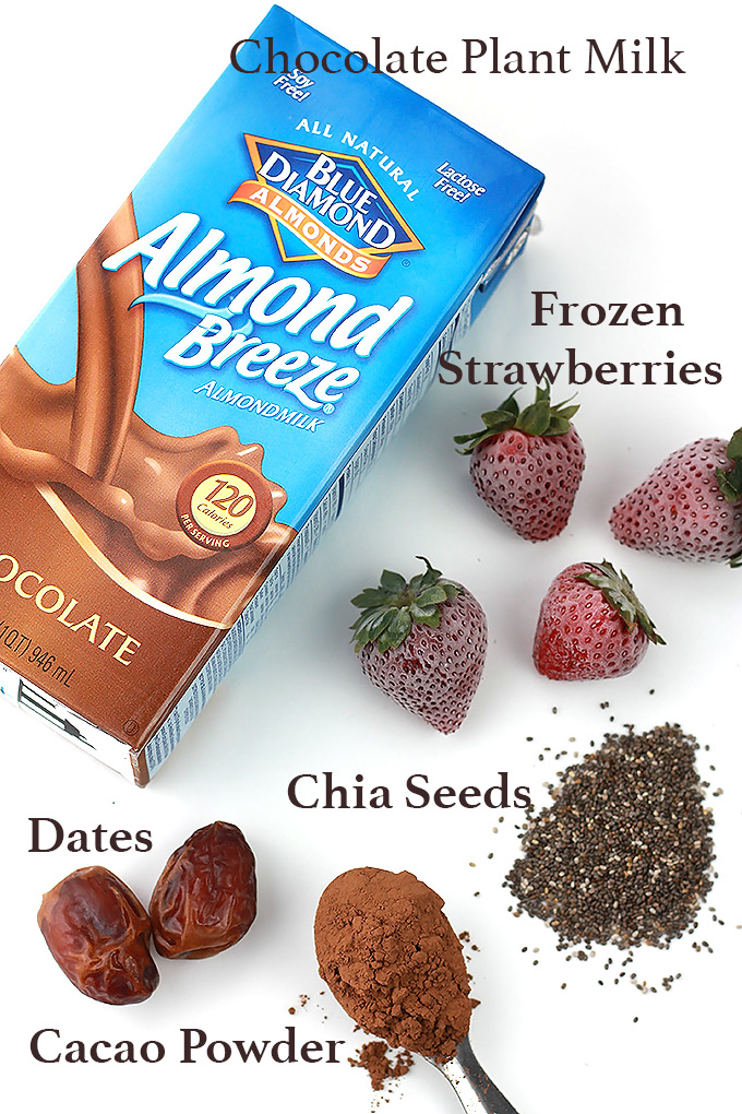 Ingredients-Chocolate-Strawberry-Smoothie