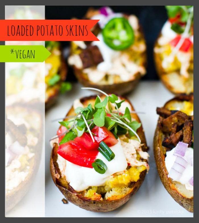 Vegan Potato Skins-Fully Loaded - Healthy Happy Life!