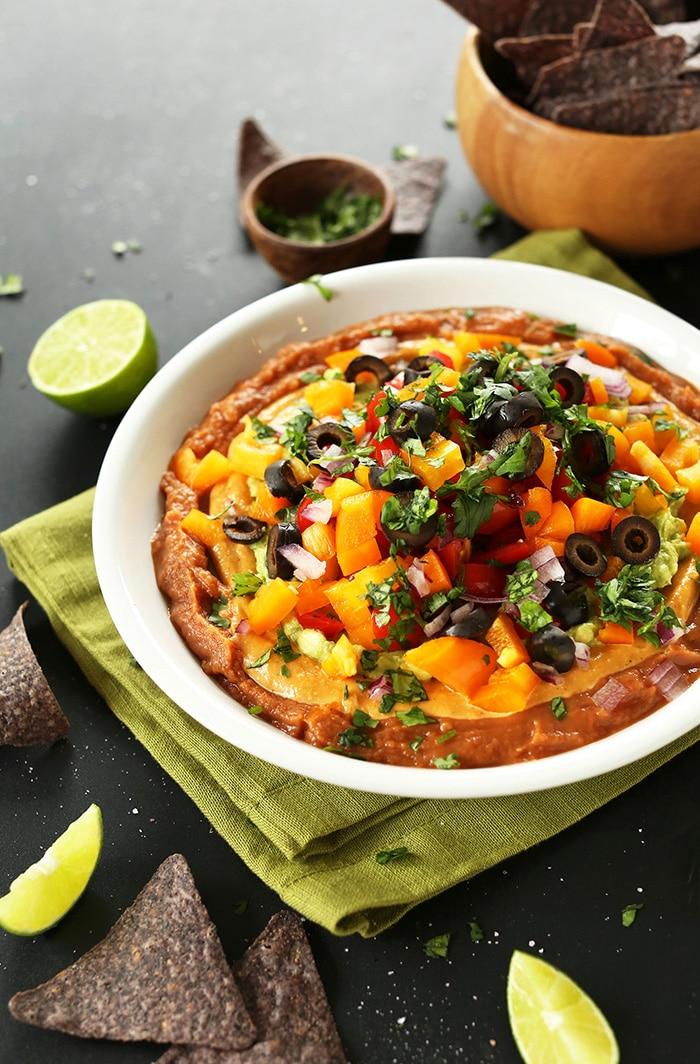 VEGAN Mexican 7 Layer Dip So simple healthy and satisfying vegan.