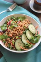 Energizing, satisfying Asian Wheatberry Salad - Make it for dinner, save some for lunch.