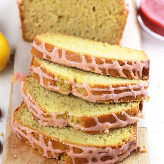 Lemon Loaf with Raspberry Sauce